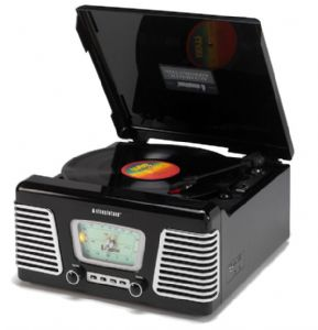 Steepletone USB Roxy 1 1960's Style TurnTable Music System with MP3 Playback